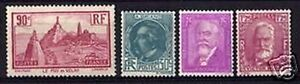 FRANCE-STAMP-ANNEE-COMPLETE-1933-4-TIMBRES-YVERT-N-290-293-NEUFS-xx-TTB