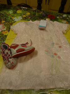 neufs-9mois-adorable-robe-surbrodee-chaussures-assorties