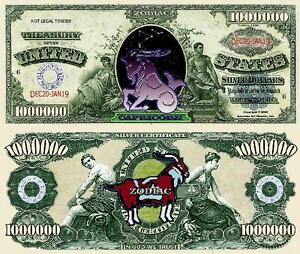 Tombstone Million Dollar Bill Fake Play Funny Money Novelty Note FREE SLEEVE