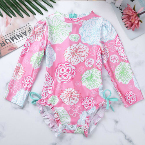 Rash Guard Swimwear Swimsuit Tankini Bathing Suit Beachwear Baby Girls UPF 50