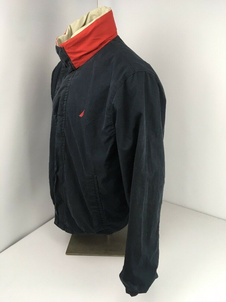 Nautica Jacket Vintage Reversible Bomber Men L La… - image 9