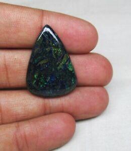Azurite Malachit Pear Shape Cabochon Gemstone Gemstone Semi Precious  Azurite Malachit stone Cabochons 36 Crt 32x26x5mm CD Ha129