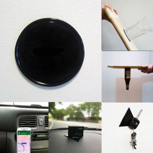 Car Rubber Fixate Gel Phone Pad Sticker Holder Stand Grip COMPACT SHAPE Black