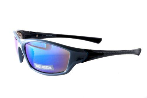 Harley Davidson Sunglasses HDS 621 BLGUN-3F Dark Grey Blue Purple Multi Mirror