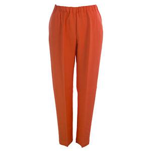 Nuova Rinaldi Con Etichetta Pantaloni Vita Donna Elastico Arancione Marina Re xFdZ4q0ww