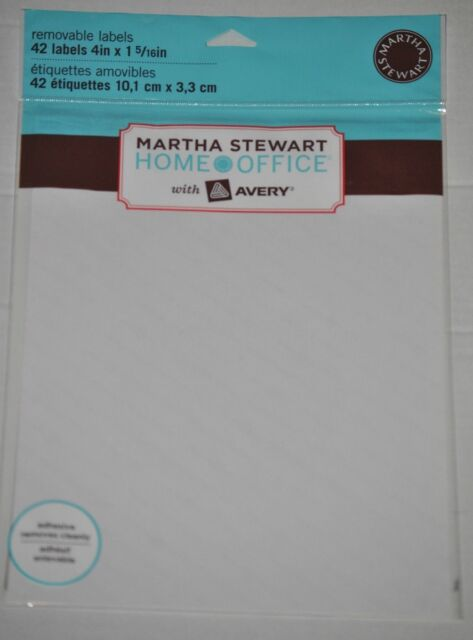 martha stewart home office with avery removable labels 4 x 1 5 16 42