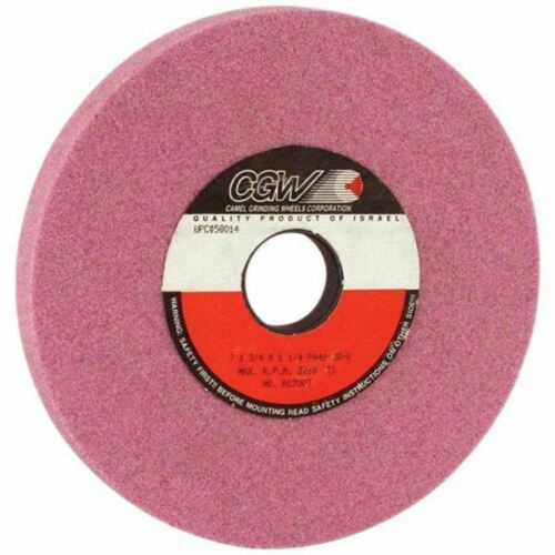 "CGW-Camel 58018 7/""x 1/""x 1-1//4/"" PA60-J8-V Type 5 Pink Alum Ox Grinding Wheel"
