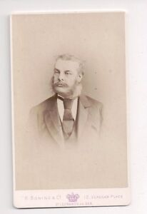 Vintage-CDV-Unknown-Victorian-Man-R-Boning-amp-Co-Photo-St-Leonards-by-the-Sea