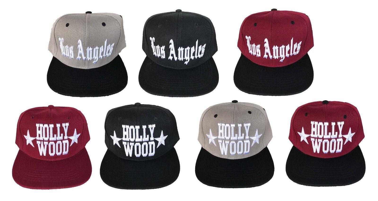 Los Angeles 3D EMBROIDERED LOGO FLAT BILL CAP SNAPBACK BASEBALL HAT CAP BILL 860f43
