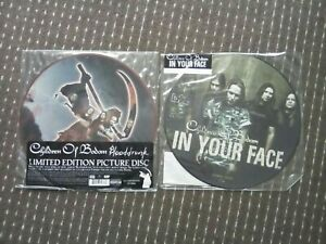 Children-Of-Bodom-034-Blooddrunk-034-034-In-Your-Face-034-2x12-034-Vinyl-Picture-Disc-Singles