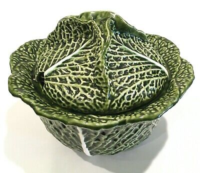 Large Green Cabbage Soup Tureen Lid 2 Quart Ebay
