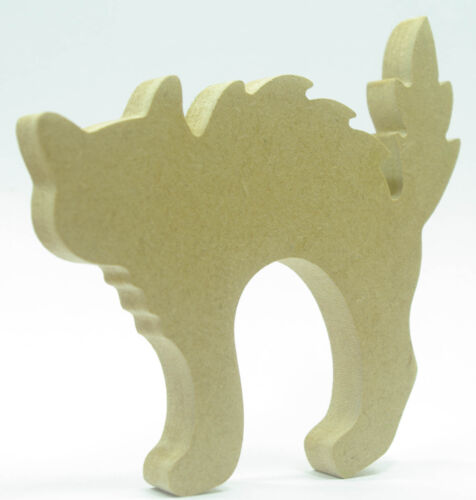 Halloween CAT Shape-FREESTANDING-READY TO PAINT-DECORATE,KIDS,CRAFT S3
