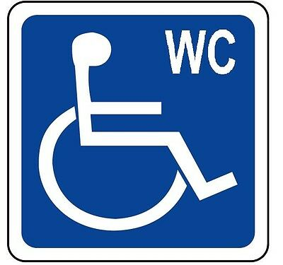STICKER Toilette female sign ADESIVO segnaletica toilette donna 120x120