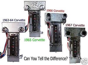 1963,1964,1965,1966,1967 Corvette AM-FM Stereo Radio
