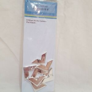Silver Photo Corners Scrapbooking Framing Crafts 1 Pack 8 PCS Flat Finish Xyron