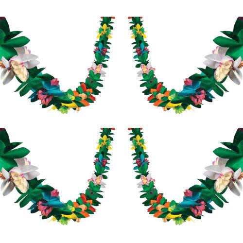 2Stk Tissue Blumen Kranz tropisch hawaiianisch Luau Hawaiian Party Dekoration