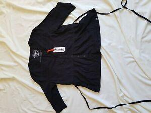 Mesdames-Bnwt-Noir-SUPERDRY-Manches-3-4-a-nouer-dans-le-dos-chemise-taille-L