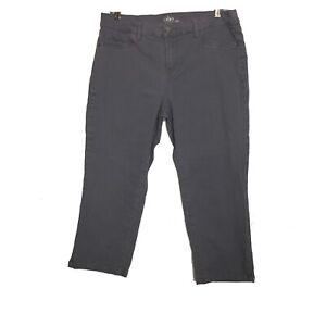 SOHO New York & Co Curvy Cropped Legging Womens Grey Capri Pants Size 12