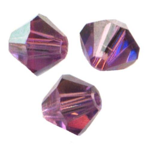 LILAC AB 20 Perles Toupies 4mm Cristal Swarovski