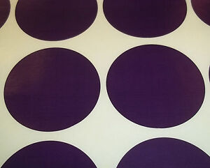 100 Dark Purple 20mm 3/4 Inch Colour Code Dots Round Stickers Sticky ID Labels