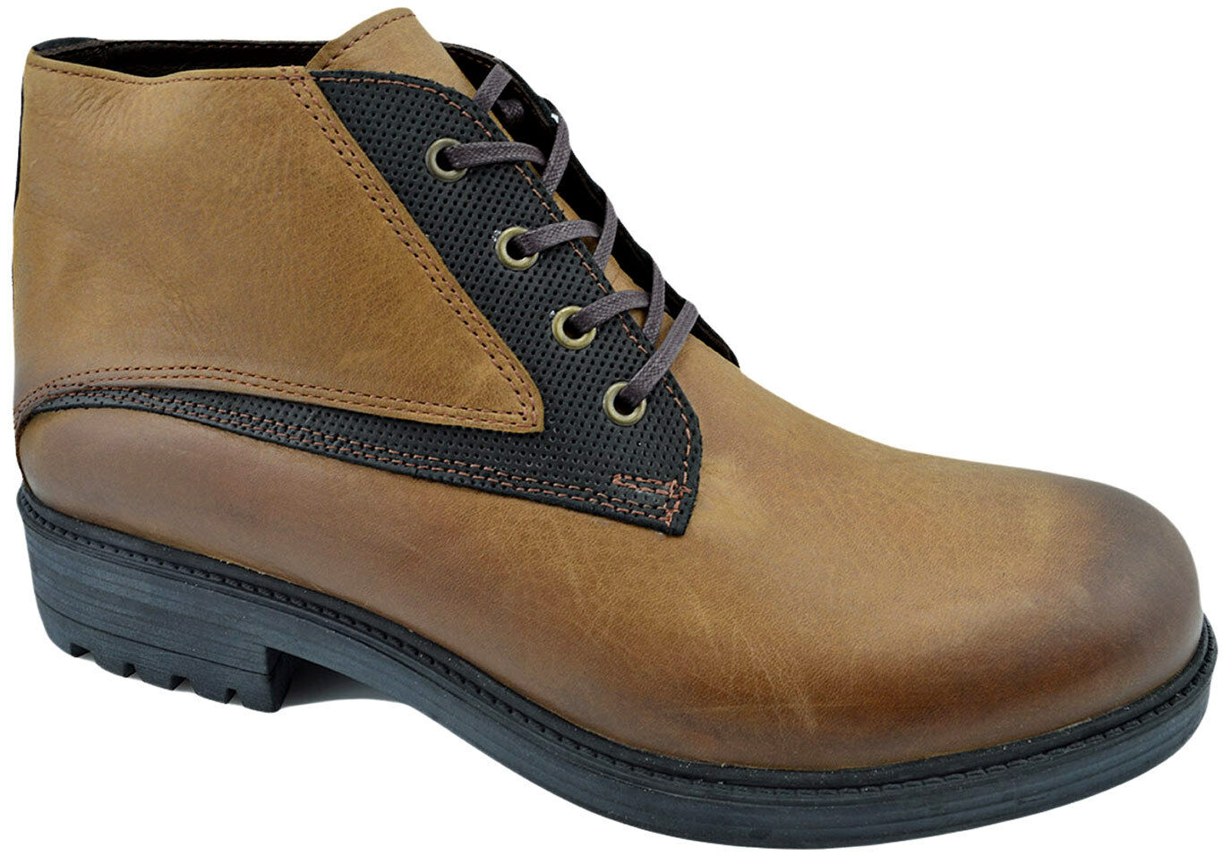 200 REACTOR Beige Brown Black Calf Leather Ankle Boots Men shoes