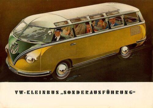 VW Bus 1952 Volkswagen Deluxe Bus DER KLEINBUS Refrigerator Magnet,40 MIL