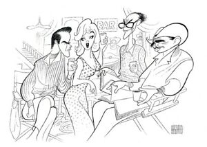 Al-Hirschfeld-039-s-THE-MISFITS-Hand-Signed-Limited-Edition-Lithograph