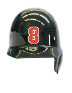 Number Helmet Baseball//Softball Vinyl Decal Stickers Style #00