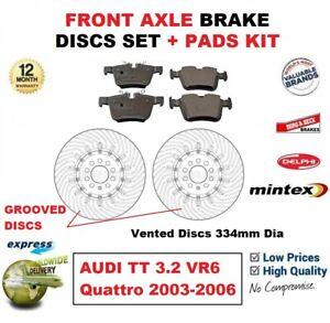 Audi tt /> 06 1.8 Quattro Coupe 187bhp Arrière FREIN PADS DISQUES 239.5 mm solide