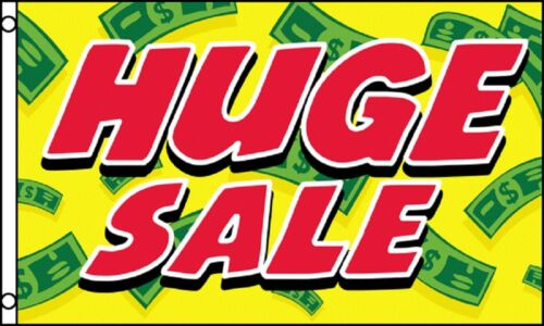 HUGE SALE Red on Yellow Money Shop Advert Sign Advertising POS 5/'x3/' Flag !