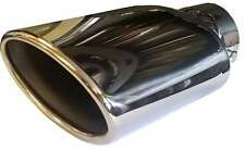 Alfa Romeo 156 125X200MM OVAL EXHAUST TIP TAIL PIPE PIECE CHROME SCREW CLIP ON