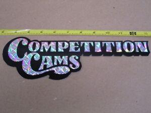 """Original 80's Comp Cams 11"""" PRIZM DECAL Nascar Indy"""