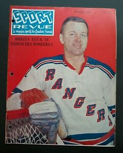 size 40 a1309 bb4b8 Details about 1961 DOUG HARVEY NY RANGERS MONTREAL CANADIENS JACQUES PLANTE  MAHOVLICH FRENCH