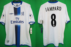 promo code 28be4 f865f Details about 2003-2004 Chelsea FC Jersey Shirt Away Fly Emirates Lampard  #8 Asia Cup L BNWT