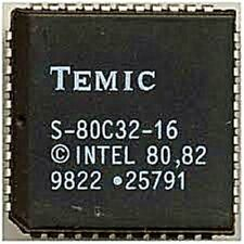 TEMIC S-80C32-16 PLCC-44 CMOS 0 to 44 MHz Single Chip