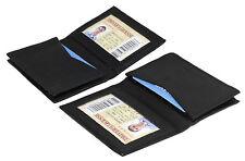 2 pcs Mens BLACK Leather Bifold Student Wallet/CARD HOLDER Accordion Pocket 15CC