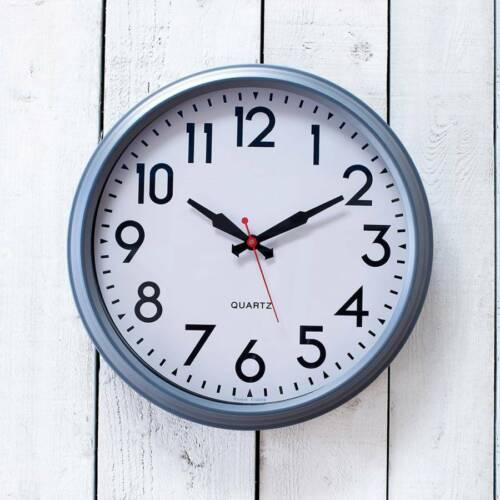 NQP* GARDEN TRADING Smithfield Powder Coated Steel Clock Charcoal Medium SFCL04