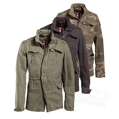 Surplus™ Vintage Jacke Delta Britannia M65 Feldjacke Regiment Giant Army Parka