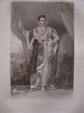 Grande gravure Portrait de Jérôme Bonaparte Roi de Westphalie Comte de Montfort