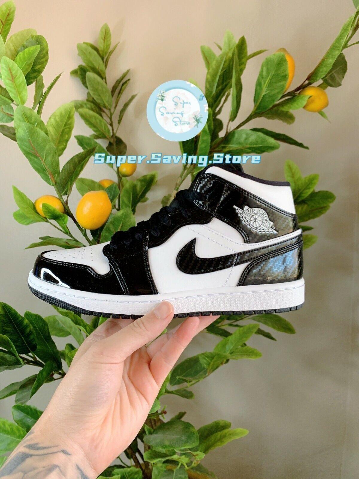 Nike Air Jordan 1 Mid SE ASW Carbon Fiber Black White DD1649 ...