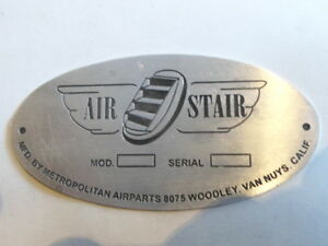 Plaque Bouclier Air Stair Métropolitain Airparts Id-plaque Targhetta S20 Ptqoibq4-08004954-589194185