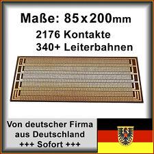 2 Stk. Streifenraster Leiterplatte PCB Experimentierplatine 85x200mm 2176Löcher