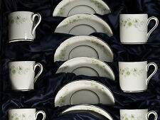Wedgewood 'WESTBURY' Demitasse Cup and Saucer Set of Six in Box