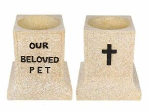 15cm-Pet-Memorial-Stand-034-Our-Beloved-Pet-034-Stone-Look-150mm