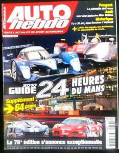 Auto Hebdo Du 26/5/2010; Guide Des 24 Heures Du Mans Avec Supplément 64 Pages En Voyageant