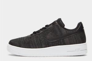 Details zu Nike Air Force 1 Flyknit 2.0 Schwarz Weiß Herren Sneaker Alle Größen Limitiert