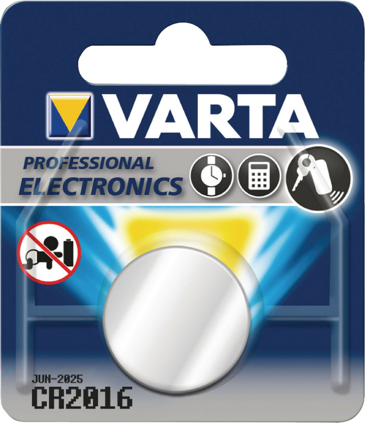 100x Varta CR2016 1er Blister 3v Batterie Lithium Knopfzelle CR 2016 VCR2016