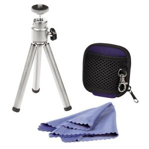 Mini Small Universal Tripod Compact Digital Camera DSLR, Cloth, SDHC Card Case