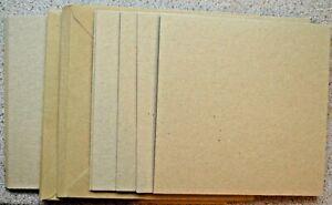 10-Kraft-Simple-Plegables-Tarjetas-en-Blanco-150mm-Sq-Con-Kraft-Env-Nuevo