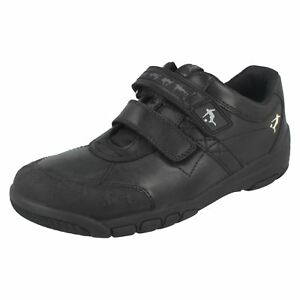 04db6e5e83074 Image is loading Boys-Black-Leather-Riptape-Startrite-School-Formal-Shoes-